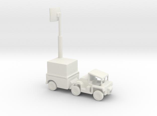 1/200 Scale M561 Gama Goat Radar in White Natural Versatile Plastic