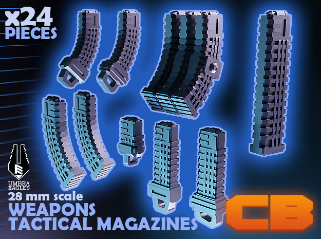 CB Umbra Eagles Tactical Magazines S* 28mm in Smoothest Fine Detail Plastic