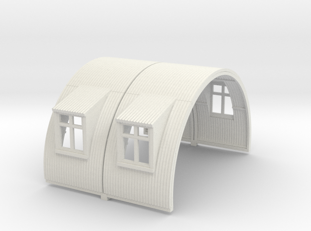 N-87-complete-nissen-hut-mid-16-two-wind-1a in White Natural Versatile Plastic