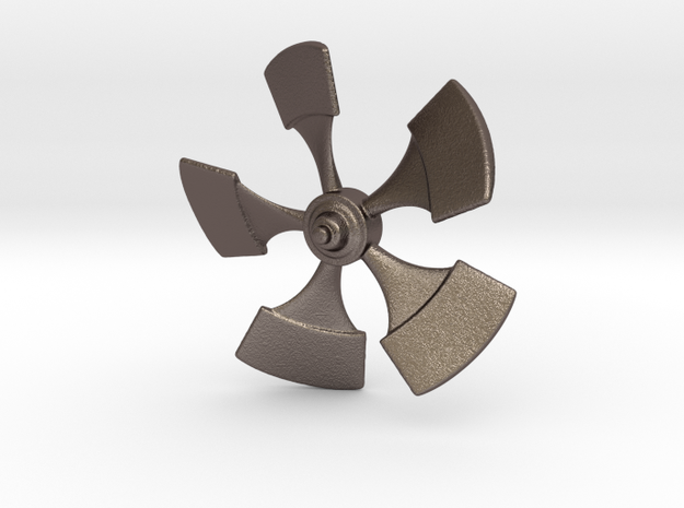 Nautilus Propellor 53mm in Polished Bronzed-Silver Steel