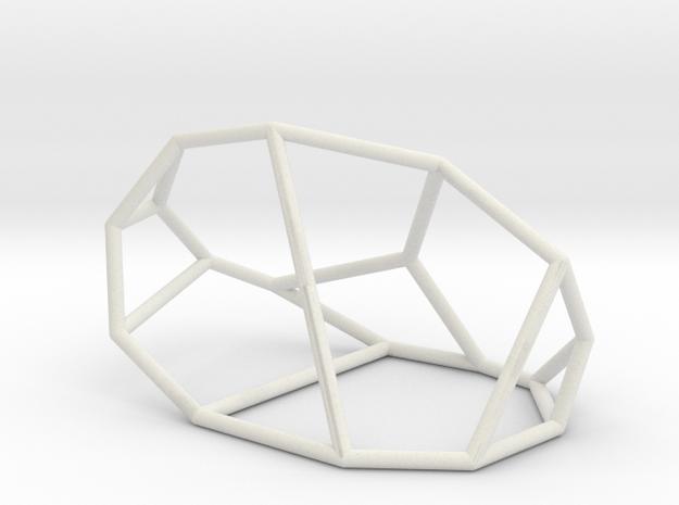 """""""Irregular"""" polyhedron no. 1 in White Natural Versatile Plastic: Large"""