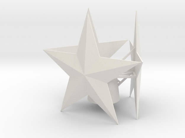 Small tree star in White Natural Versatile Plastic