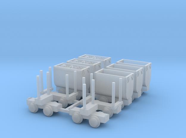 Grubenbahn Set1 - TTf 1:120 in Smooth Fine Detail Plastic