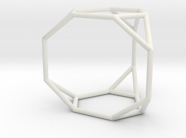Truncated triangular prism in White Natural Versatile Plastic