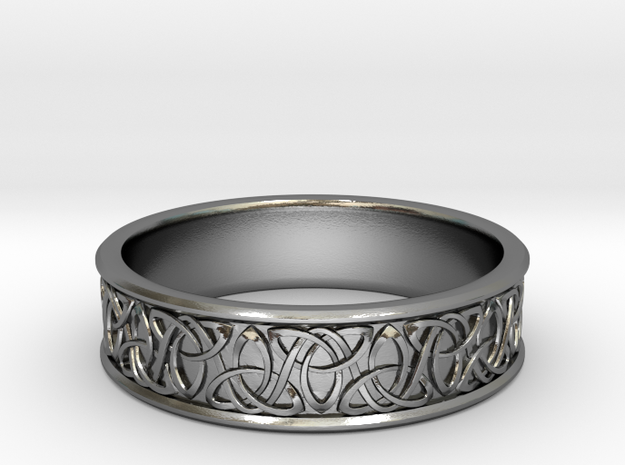 Celtic Tri Knot Vines Ring~size US 8 1/4 in Polished Silver: 8.25 / 57.125