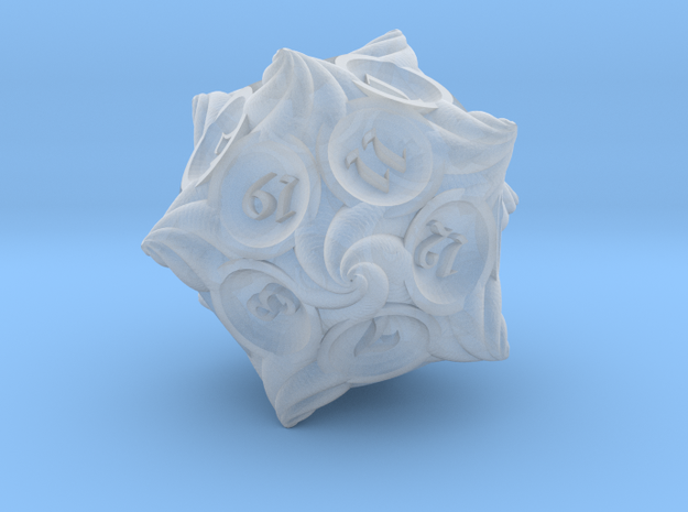Conch d20 in Smooth Fine Detail Plastic