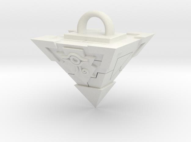 Millennium Puzzle Necklace in White Natural Versatile Plastic: Large
