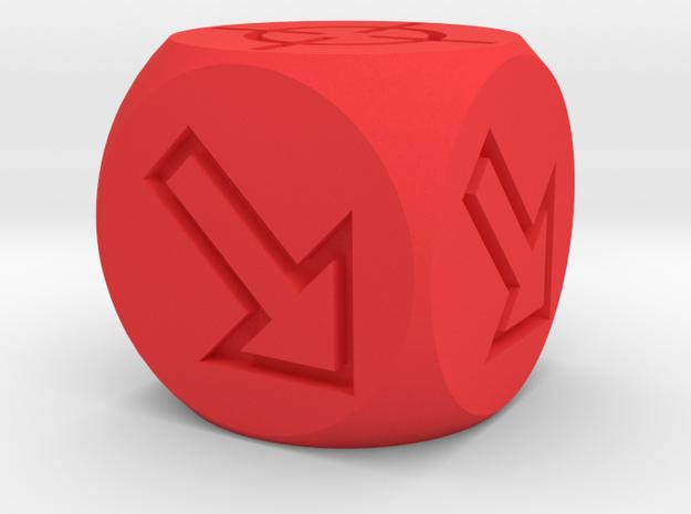 Accuracy Dice in Red Processed Versatile Plastic