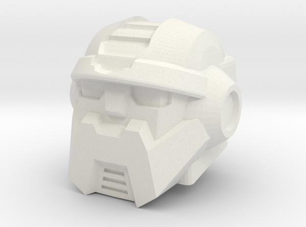 Salvage Head for Combiner Wars Prime in White Natural Versatile Plastic