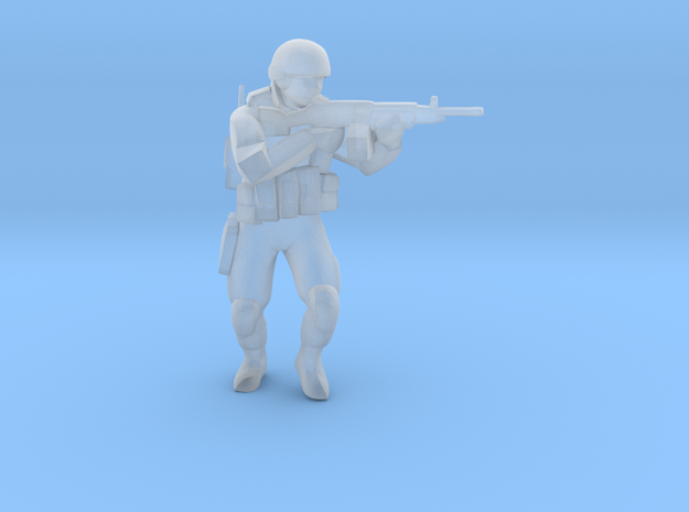 Soldier-sq-6 in Smooth Fine Detail Plastic