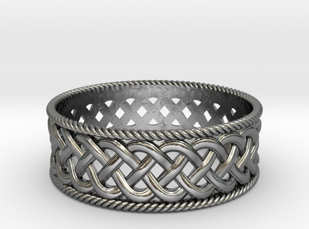 Interwoven Celtic Ring~size US 8 1/4 in Polished Silver: 8.25 / 57.125