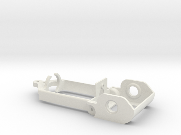 """D16 old motor holder """"back to '60"""" 1/24 chassis in White Natural Versatile Plastic"""