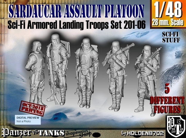 1/48 Sci-Fi Sardaucar Platoon Set 201-06 in Smoothest Fine Detail Plastic