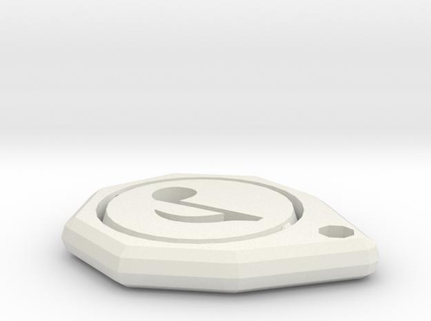 Music Keychain in White Natural Versatile Plastic