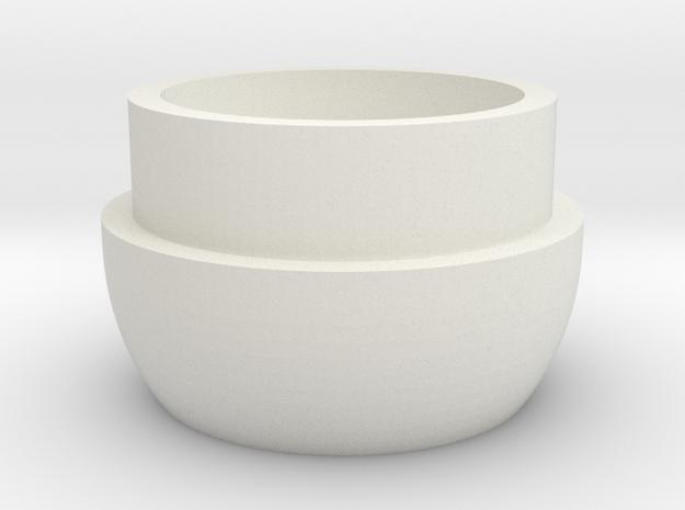 Inferno Mic Tip in White Natural Versatile Plastic