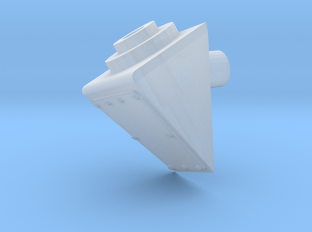 1:9 Antenna mount 20 degre in Smooth Fine Detail Plastic