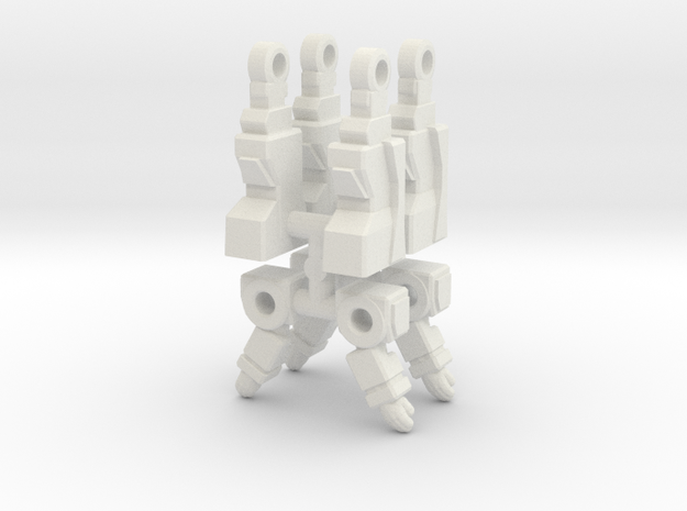 Soundwave Inchman Limbs in White Natural Versatile Plastic: Medium