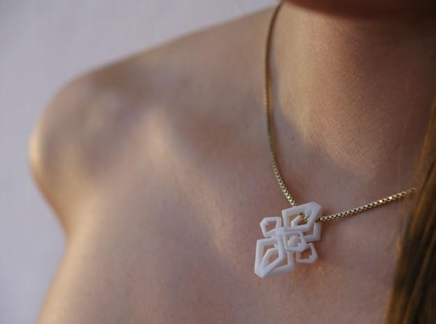 """HEAD TO HEAD AGAIN, Heart to Heart"", pendant 3d printed"