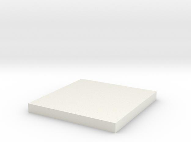 Inferno Square 90 in White Natural Versatile Plastic