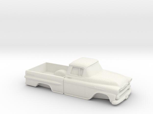1/32 1958 Chevrolet Apache in White Natural Versatile Plastic
