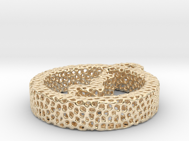 1ad_voronoi yoga in 14k Gold Plated Brass