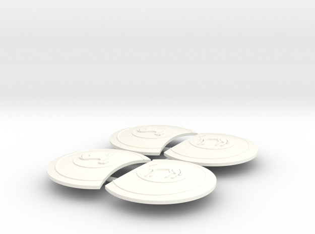 HECTOR SHIELD X4  in White Processed Versatile Plastic