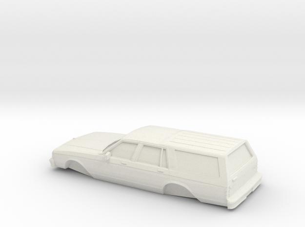 1/32 1982-85 Chevrolet CapriceClassicStation Wagon in White Natural Versatile Plastic