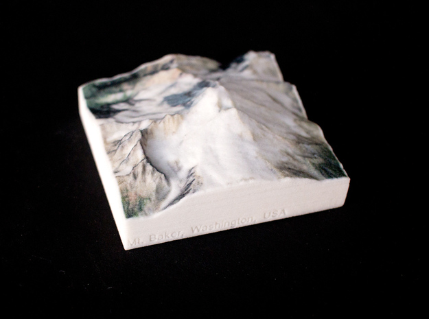Mt. Baker, Washington, USA, 1:100000 Explorer in Full Color Sandstone