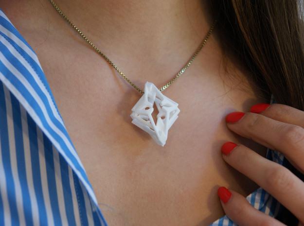 HEART TO HEART Azure, Pendant  in White Natural Versatile Plastic
