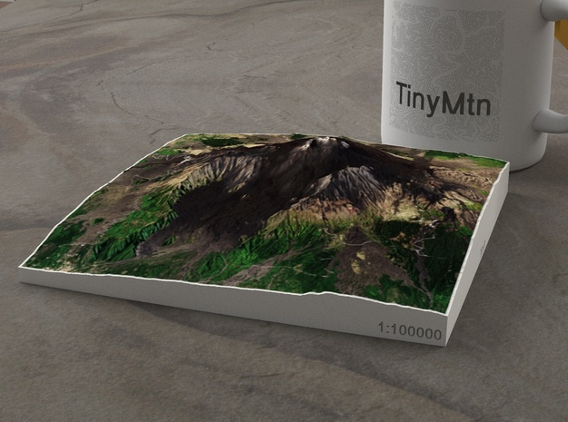 Mt. Etna, Sicily, Italy, 1:100000 Explorer in Natural Full Color Sandstone