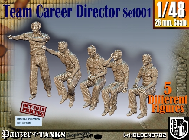 1/48 team career director Set101 in Smooth Fine Detail Plastic