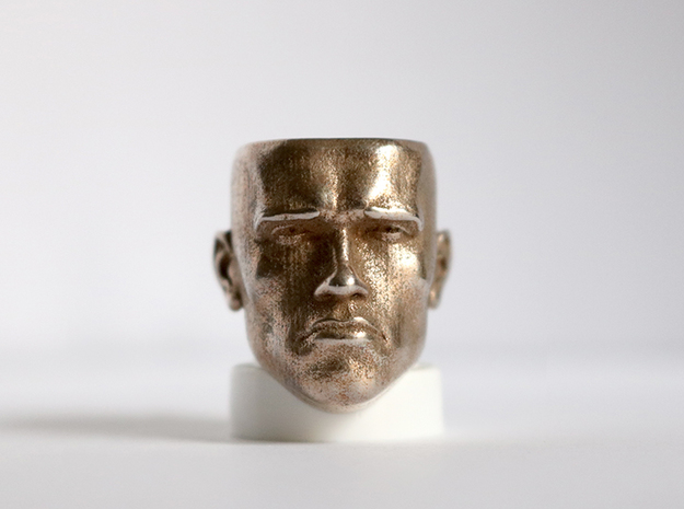 ARNOLD-L in Polished Bronzed-Silver Steel