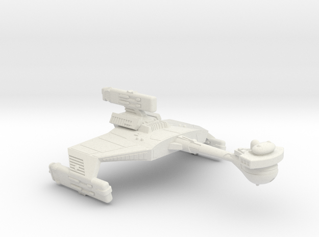3125 Scale Klingon D5WK Refitted New Heavy Cruiser in White Natural Versatile Plastic