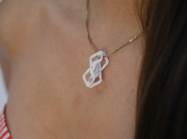 """""""head to head, heart to heart"""" EXCELLENCE, pendant 3d printed"""