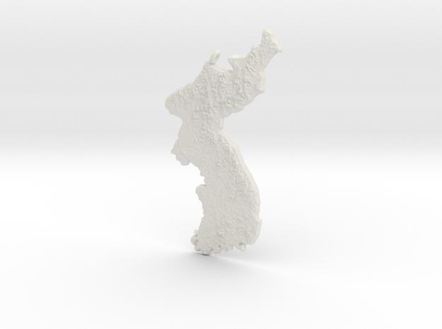 Korea Hanging Ornament in White Natural Versatile Plastic