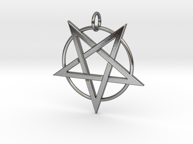 last pentagram3 in Polished Silver