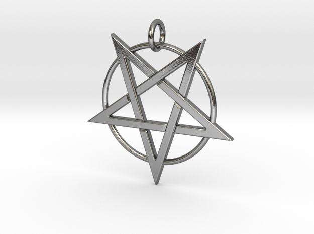 last pentagram4 in Polished Silver