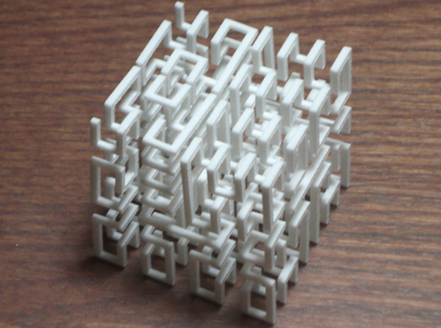 Hilbert Cube 3d printed Hilbert cube which will pull apart