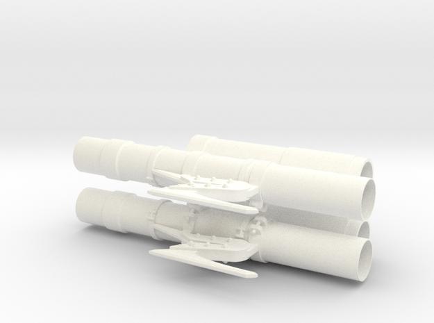 1.8 TRAIN AVANT TIGRE in White Processed Versatile Plastic