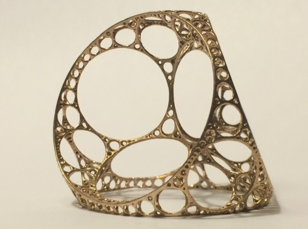 Apollonian tetrahedron - small in Natural Bronze