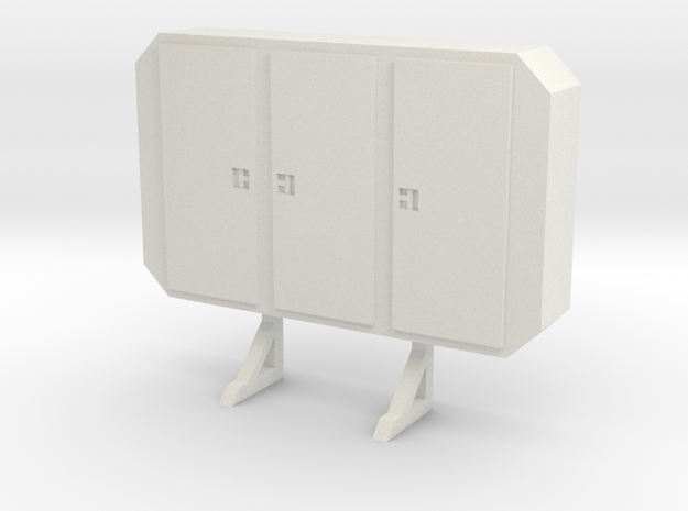1:24 cabinet headache rack in White Natural Versatile Plastic