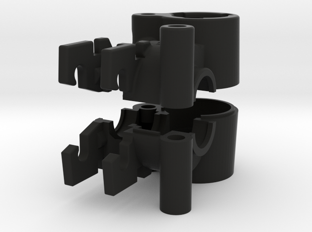 Nimble Housing for 3mm in Black Natural Versatile Plastic