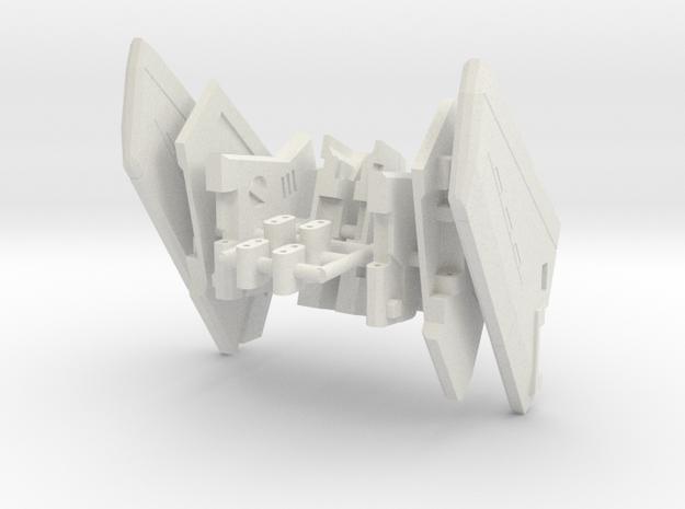 VF-9 WINGS in White Natural Versatile Plastic: 1:60