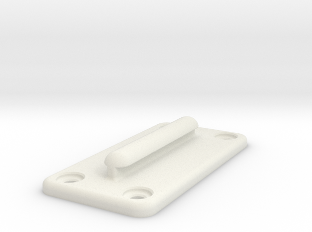 Queue Barrier Belt Clip in White Natural Versatile Plastic