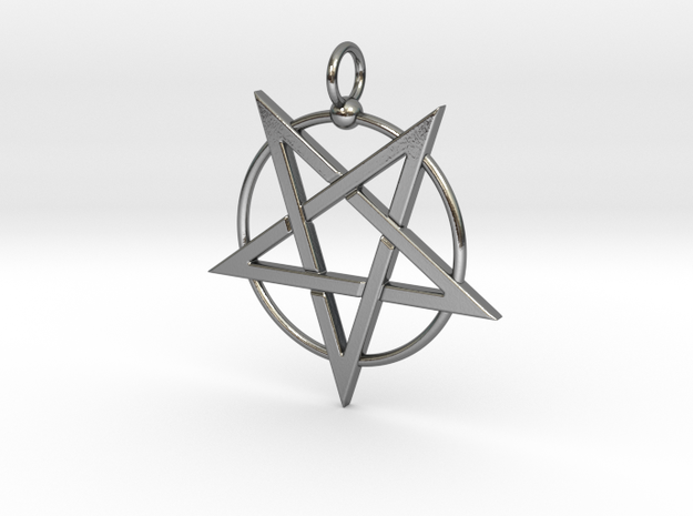 last pentagram3updatedver4 in Polished Silver
