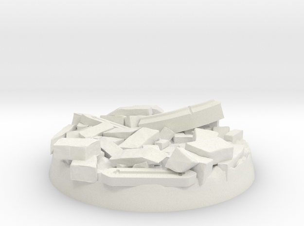 40mm Base - Stone Ruin in White Natural Versatile Plastic