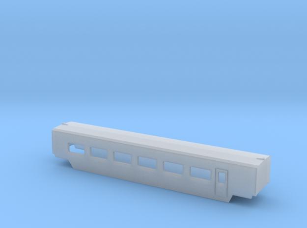 TGV wagenA002b in Smooth Fine Detail Plastic