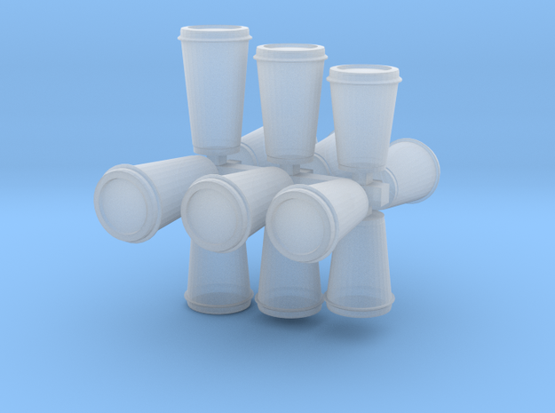 Disposable Coffee Cups/travel mugs for dioramas in Smoothest Fine Detail Plastic: 1:24