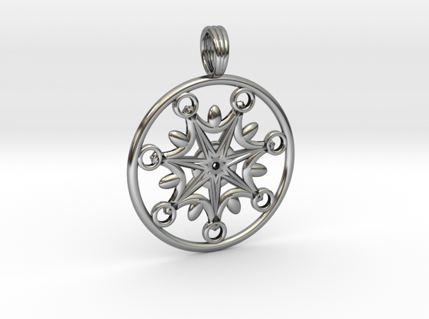 SISTAR CHAKRA in Antique Silver