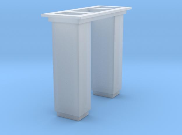 1/64 5000 Grain leg trunking short section in Smooth Fine Detail Plastic